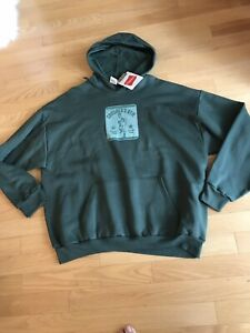 MEN'S HANES PULLOVER GREEN HOODIE SWEATSHIRT XL NWT