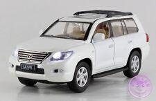 1:32 Lexus LX570 Alloy Diecast Model Car Toy Vehicle Gift Sound&Light White 2112