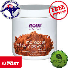 Now Foods Solutions - Moroccan Red Clay Powder - 170g - Vegan Facial Detox