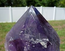 Bolivian AMETHYST SCEPTER Quartz Crystal Point Elestial Generator Super Huge