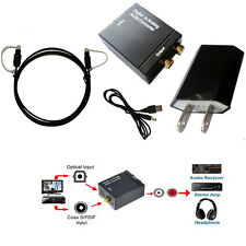 1.5M + Digital to Analog TV Converter Box adpater Optic Coaxial Toslink to RCA