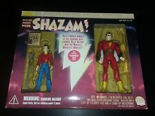 Shazam With One Magic Word Deluxe Action Figures w/Thunder Sound DC Direct RARE