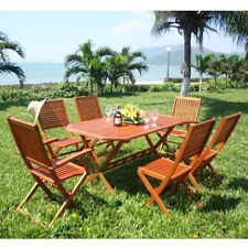 Wooden Up to 6 Seats 7 Pieces Garden & Patio Furniture Sets