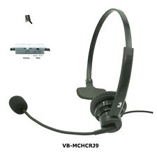 Zultys IP phone headset, Noise Canceling Rotatable Microphone, Volume, Mute