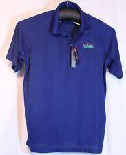 Size L Golf Shirt Sandbaggers Blue Nwt Wick Away Moisture Managmt Bermuda Sands