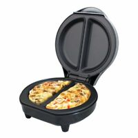 Omelet Maker Quest Non-Stick Egg Cooker Dual Automatic Thermostat Black 700W
