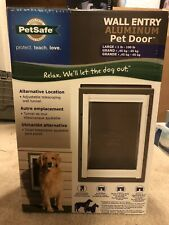 Petsafe 10 3/8x15 3/8 Wall Aluminum Pet Door PPA11-10917 Large