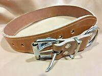 Collar de Perros en Cuero de Gran Resistencia | Piel Legítima | 4 cm x 80 cm