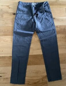 """Orlebar Brown Benson Trousers Chinos Tailored Slim Fossil Grey 32""""W New"""