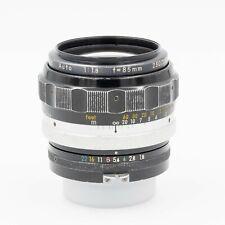 NIkon Nikkor H 85mm f/1.8 Fast Telephoto Prime Lens