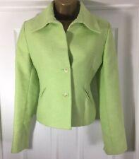 FLAVIO CASTELLANI Fully Lined green Jacket UK 8 IT 40 US 4 XS Wedding Formal