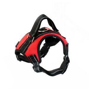 Dog Harness Adjustable - Reflective - Safe - Non Pull - Collar - Lead -UK Seller