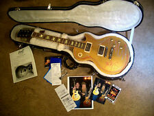 2007 GIBSON Les Paul GOLD TOP Electric Guitar Signed ZZ TOP Billy Gibbons CUSTOM
