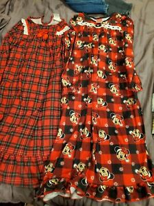 Disney Plaid Gown Girl Size 8 Lot Of 2