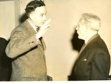 Paris, Mr Phillip C.Jessup et Mr Fernand Van Lancenhove Vintage silver print T