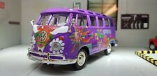 VW Split Screen T1 Camper Hippie Flowers Van Maisto 1:25/24 Scale Diecast Model