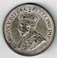 CYPRUS 1928 45 PIASTRES KING GEORGE V STERLING SILVER COIN ANNIV OF BRITISH RULE