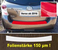 Ladekantenschutz Lackschutzfolie transparent Toyota Verso Facelift ab 16  150 µm