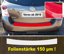 Pellicola di Protezione Vernice Paraurti Trasparente Toyota Verso Facelift Da 16