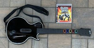 PS3 Les Paul Wireless Guitar Hero Controller + Game NO DONGLE Tested 95121.805