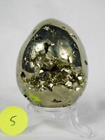 5) Pyrite Crystal Egg Cubes  / Fools Gold Iron Mineral 272g Gift AAA GRADE