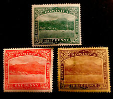 "Dominica ""Roseau from the Sea"" 3x MINT STAMPS LH"