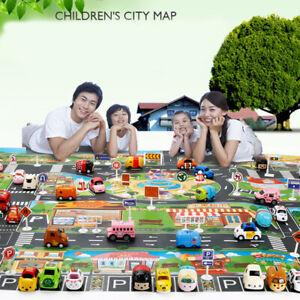 Large City Traffic Car Park Mat Developing Baby Crawling Mat Play Game Mat T_BI