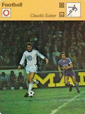 FOOTBALL carte joueur fiche photo CLAUDIO SULSER équipe GRASHOPPERS ZURICH
