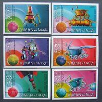 Ajman -Cosmonautics ,Imperf.Set. MNH, AJ 041a