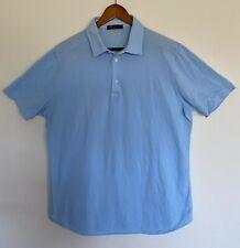 Loro Piana Cotton Large Mens Polo FAI1315 Light Blue Short Sleeve