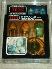 Vintage Star Wars 1983 CAS/AFA 75/80/85 SY SNOOTLES & REBO BAND ROTJ BACK MOC UP