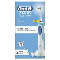 Braun Oral-B Vitality Plus White & Clean Electric Rechargeable Toothbrush + Head