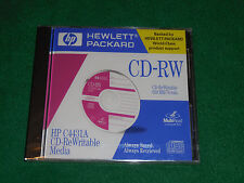 HP CD-RW 650mb 74min Blank Recordable Re-Writable Media C4431A 1 Sealed CD Disc
