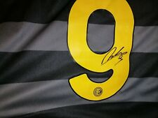 MAGLIA INTER LUKAKU AUTOGRAFATA FC INTER 2020 2021 N. 9 CALCIO SHIRT HAND SIGNED