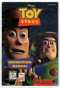 Disney's Toy Story (Super Nintendo, 1995) Instruction Booklet ONLY
