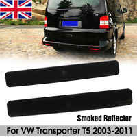 Pair Smoke Rear Bumper Reflector Lens Left Right For VW Transporter T5