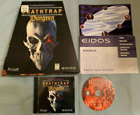 Deathtrap Dungeon - PC Computer CD Video Game COMPLETE in Big Trapezoidal Box!