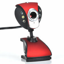 USB 50.0M 6 LED Webcam Camera WebCam With Mic for Desktop PC Laptop New