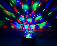 Ampoule LED Batterie Portable Puissance Rotation filature Cristal Disco Ball Party Lumière