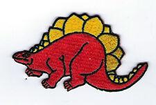 Dinosaur Stegosaurus Iron On Yellow Hat Patch Pin Up Funny Cartoon Souvenir