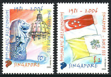 Singapore 1232-1233, MNH. Singapore & Vatican, Diplomatic Relations. Flags, 2006