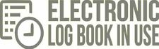 "Set Of 2 SILVER ""ELog Device in Use"" Electronic Log Book Decal Sticker Truck ELD"