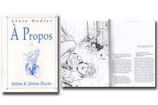 Monographie Jérome K Bloche A propos de Jérôme K Bloche Nautilus Editions