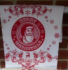 Santa towel, Flour sack towel, Christmas towel, Holiday towel, linens, tea towel