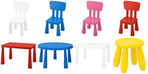 IKEA Mammut Children's Table Chair Plastic Multicolour Indoor Outdoor Kids