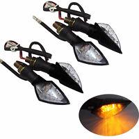 4x LED Turn Signal Indicator Light Black For Kawasaki Ninja 250R EX250 Versys