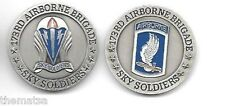 """ARMY 173RD AIRBORNE BRIGADE SKY SOLDIERS 1.75"""" CHALLENGE COIN"""