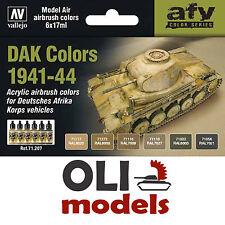 AFV DAK Afrika Korps COLORS 1941-1944 Acrylic Paint Set 6x17ml - Vallejo 71207