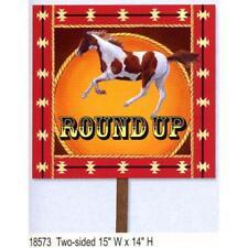 Cowboy en un caballo silueta Salvaje Oeste Western Cartón recorte Pie Standup