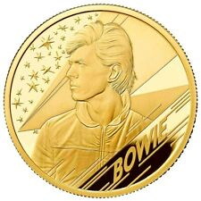 UK 2020 £25 David Bowie 1/4 oz 9999 Gold Proof  LIMITED 1300 MADE